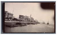 Egypte, Port Said (بورسعيد), Le Quai  Vintage citrate print.  Tirage citrate