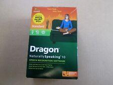 Dragon Naturally Speaking 10 Speech Recognition Software Windows Vista 64 Bit