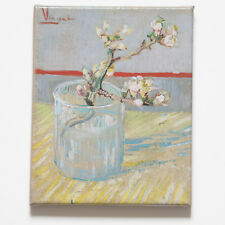 Vincent van Gogh~Sprig of Flowering Almond in Glass~Giclée on STRETCHED CANVAS