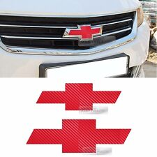 Front Rear Red Carbon Emblem Badge Decal Sticker For CHEVROLET 2014-2019 Impala
