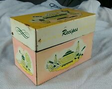 Vintage 1950's Pink Retro Atomic Mid Century Recipe Holder Box Kitchen Decor