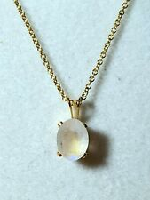 Rainbow Moonstone facet oval Pendant  Gemstone Pendant 14kt gold filled