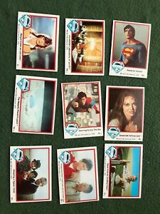 Lot of 9 Superman the Movie Trading cards Topps DC Comics lot #13