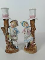 Conta & Boehme Figural Candle Holders,  Appr.18cm Tall