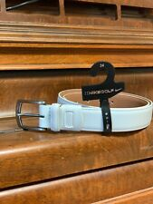 BRAND NEW Mens White Nike G-flex Golf Vegan Leather Belt Size 36