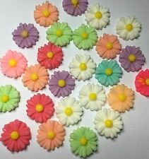 16 x 13mm resin Daisy flower flat back cabochon Assorted Colour - FREE POST