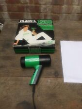 Vintage Clairol 1200 Hair Dryer Hairdryer Bright Green 2 Speed Boxed 1980s Retro