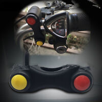 "1X 7/8"" Handlebar Mount Switch 2 Push Button Momentary Lock Switch Motorcyle ATV"