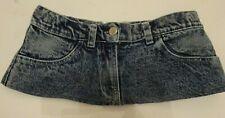 6 Inch Length Faded Denim Ultra Short Micro Mini Skirt  size 6