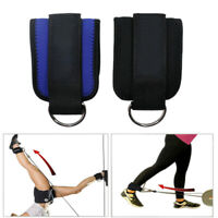 Padded Ankle Strap Dual D-Ring Attachment for Cable Machines Fits Men or Women