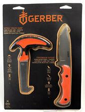 Gerber Field Dressing Kit Hunting Pack Saw & Fixed Blade Orange Knife + Sheath