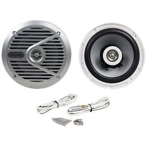 "New Alpine SPS-M601 Pair 6.5"" 2-Way Marine/Boat Coaxial Speakers"