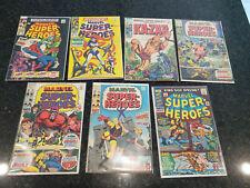 Marvel Super Heroes Comics , 1960's, Lot of 7