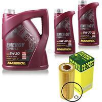 Ölwechsel Set 7L MANNOL Energy Combi LL 5W-30 + MANN Ölfilter Service 10046555