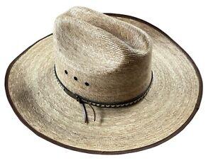 Resistol Brush Hog Amarillo Sky Genuine Mexican Palm Western Cowboy Hat Sz 7 1/2