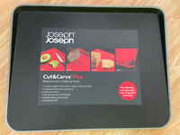 Joseph Joseph New Large Cut & Carve Chopping Board Black RRP £22