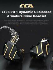 CCA C10 PRO 1DD+4BA Hybrid Drivers In Ear Monitor 2Pin Connector black no mic