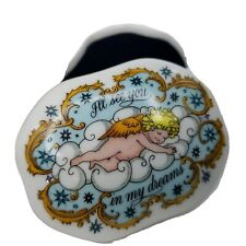 """Franklin Porcelain """"I'll see you in my dreams"""" Songs of Love Music Box 1983 VTG"""