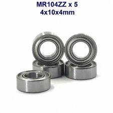 MR104ZZ - Lot de 5 roulements à billes 4x10x4mm