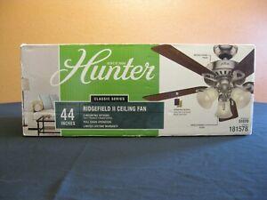 Hunter Ridgefield 44-in Brushed Nickel  Indoor Ceiling Fan New