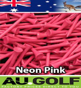 500 - Neon Pink Wood / WOODEN GOLF TEES 54 mm