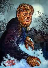LON CHANEY JR / THE WOLF MAN / ORIGINAL ARTWORK / OIL PAINTING BY RICK MELTON