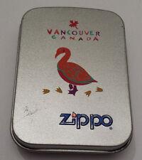 "Vintage 90's Zippo Lighter, Vancouver, Canada ""Goose"""