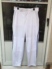 Adidas Men's Climalite Softball Baseball White W/ Royal Pants Size L Softball