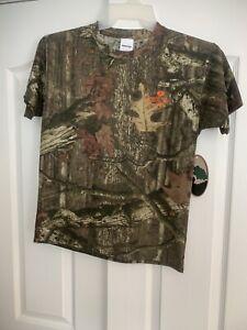 Mossy Oak Camo Tee Youth Large Short Sleeve Shirt Break Up Infinity NWT