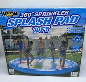 WOW 360 Degree Sprinkler And Wading Poll Splash Pad With Giant 10Ft Diameter