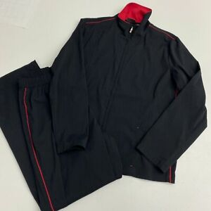 Addition by Chico's Zip Up Jacket & Track Pants Set 2pc Women's 1 Black Athletic