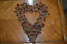 Twig and berry Valentine's Day wall or door hanger.