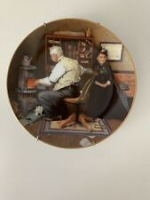 """Norman Rockwell """"Keeping Company� Plate With Coa"""
