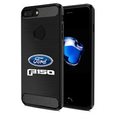 iPhone 7 Plus Case, Ford F-150 2015 up Black TPU Shockproof Carbon Fiber Texture