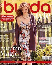 Burda Style UK Magazine 9/2013 Baby, Vintage, Asia Style (18 Uncut Patterns) NEW