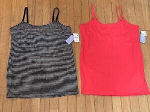 2 Piece Lot Motherhood Maternity Nursing Camis Size M