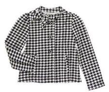 NWT Gymboree Girls Olivia Black White Checked Jacket Houndstooth Coat Size S 5-6