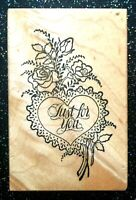 """Vintage Rubber Stamp """"Heart Bouquet and Flowers"""" by PSX Designs  2 3/4 x 1 3/4"""