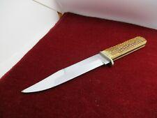 Old CASE XX 652 Fighting Knife Green Bone Handles - No Sheath - c. 1933-1950