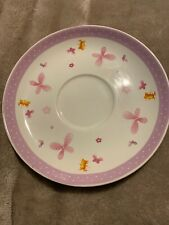 Elliot and buttons Teddy Mouse And Butterflies Plate