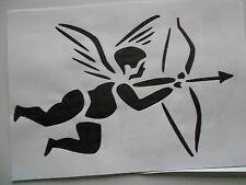 Schablone Engel Amor  für Textilg. und v.m.  auf A4