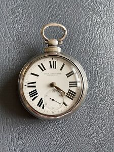 silver pair cased pocket watch