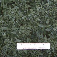 Tonga Batik Fabric - B9229 Dark Green Autumn Leaf Toss - Timeless Treasures YARD