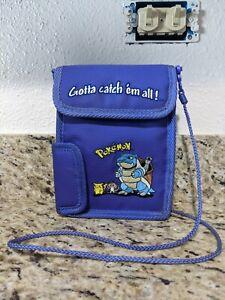Vintage 2000 Pokemon Blastoise Nintendo Gameboy Color Purple Carrying Case Bag
