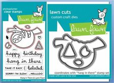 Lawn Fawn Clear Stamp & Die Combo ~ HANG IN THERE - Sloth  ~LF1311, LF1312