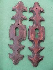 2 entrées serrure bois ancienne meuble Louis Philippe haut 16 cm large 4,1 cm