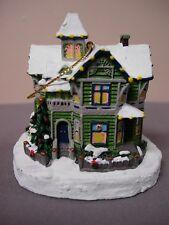 THOMAS KINKADE VICTORIAN CHRISTMAS WINTER MEMORIES ILLUMINATED HOUSE ORNAMENT