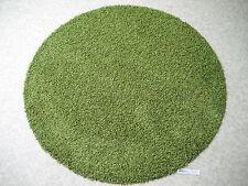 6508 runder Teppich 80 cm shaggy rund Hochflor Langflor grün Silicon Rückseite