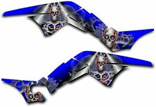 HONDA TRX250R GRAPHICS DECAL KIT TURBO CHARGED TRX 250 R STICKER BLUE