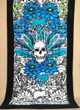 BN Betsey Johnson floral skull beach towel 100% cotton extra large size 170*90cm